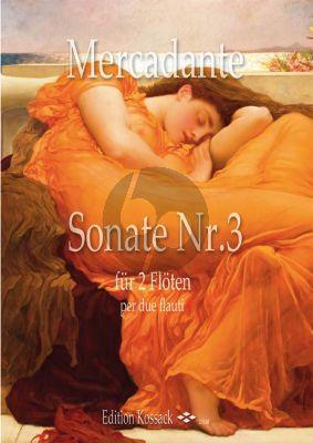 Mercadante Sonata No.3 2 Flutes (Score/Parts)