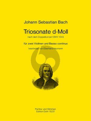 Bach Triosonate d-moll nach dem Doppelkonzert BWV 1043