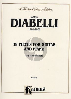 Diabelli 18 Pieces for Guitar-Piano