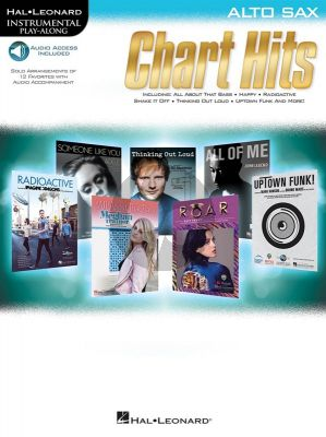 Chart Hits: Instrumental Play-Along Alto Sax. (Book/Online Audio)