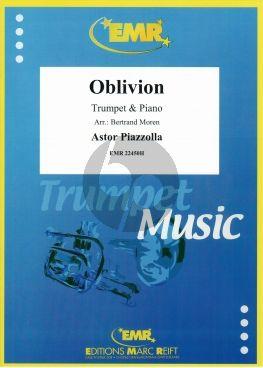 Piazzolla Oblivion Trumpet (Bb+C)-Piano (Arr. Bertrand Moren)) (Difficulté : 3)