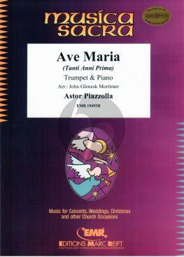 Piazzolla Ave Maria (Tanti Anni Prima) Trumpet-Piano