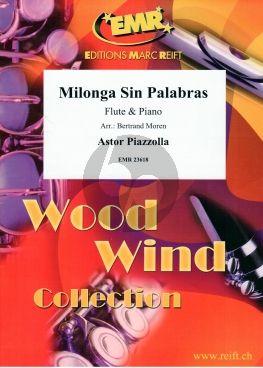 Piazzolla Milonga Sin Palabras Flute-Piano