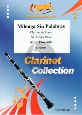Piazzolla Milonga Sin Palabras Clarinet-Piano