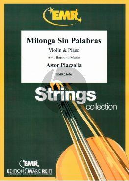Piazzolla Milonga Sin Palabras Violin-Piano