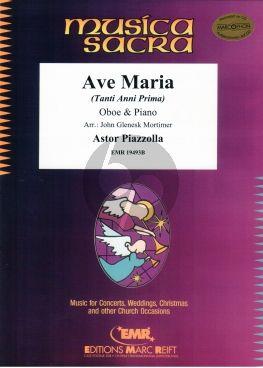 Piazzolla Ave Maria (Tanti Anni Prima) Oboe-Piano