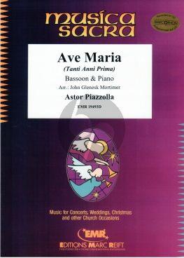 Piazzolla Ave Maria (Tanti Anni Prima) Bassoon-Piano
