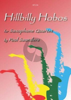Saunders Hillbilly Hobos 4 Saxophones (SATB) (Score/Parts)