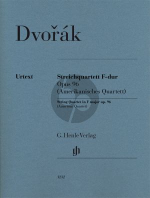 Dvorak Quartet F-major Op. 96 (American Quartet) 2 Vi.-Va.-Vc. Parts