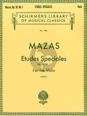 Mazas Etudes Speciales Op.36 Book 1 (Viola) (Mogill)