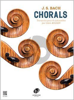 Bach Chorals 4 Violoncelles (Partition)