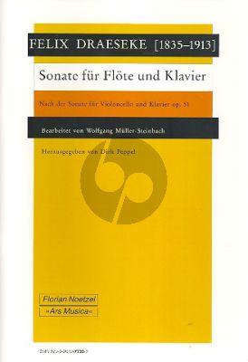 Draeseke Sonate (nach Op.51) Flöte-Klavier