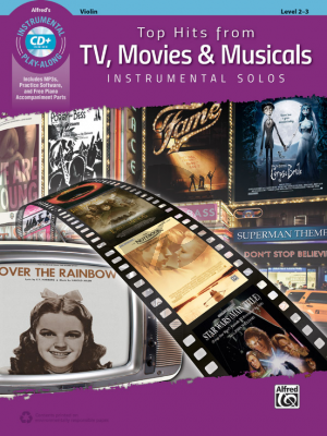 Top Hits from TV, Movies & Musicals Instrumental Solos Violin (Level 2-3) (Bk-Cd)