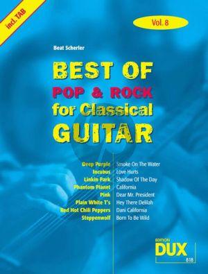 Best Of Pop & Rock for Classical Guitar Vol.8