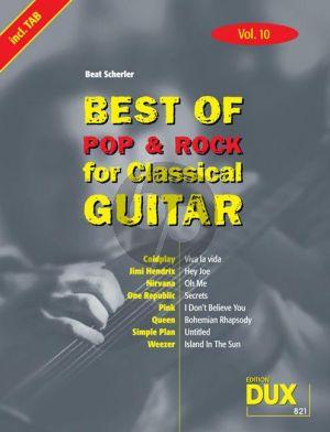 Best Of Pop & Rock for Classical Guitar Vol.10