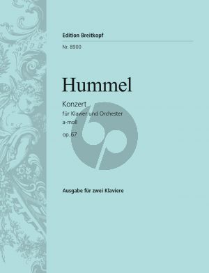 Hummel Concerto a-minor Op.85 Piano-Orch. (piano red.)