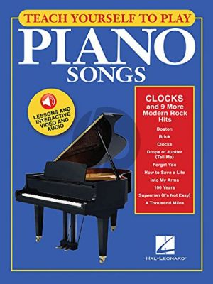 Teach Yourself to Play Piano Songs Clocks and 9 More Modern Rock Hits