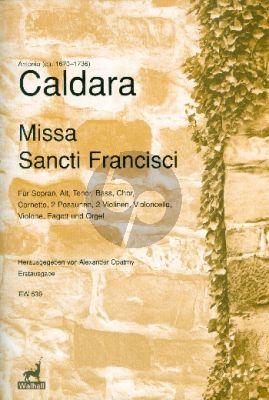 Caldara  Missa Francisci SATB soli-SATB-Orch. Full Score