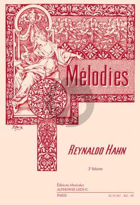 Hahn Melodies Vol.3 Chant-Piano