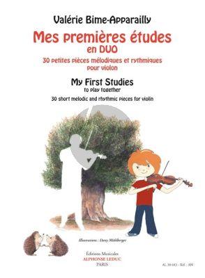 Bime-Apparailly Mes premières études en duos Violin