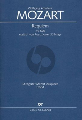 Mozart Requiem KV 626 Soli-Choir-Orch. Vocal Score (Süssmayr)
