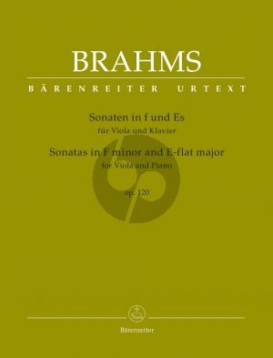 Brahms Sonatas in F minor and E-flat major Op.120 for Viola-Piano