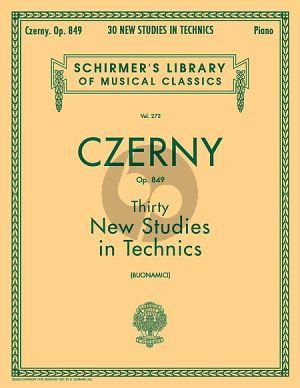 Czerny 30 New Studies In Technics Op. 849 Piano