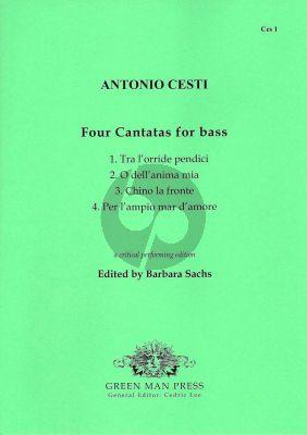 Cesti 4 Cantatas for Bass voice(Eflat-f')-Bc