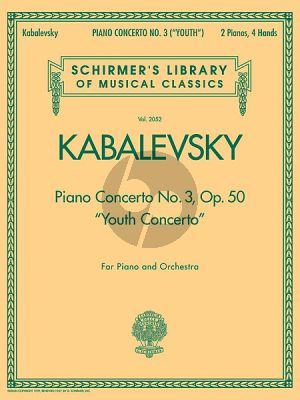 Kabalevsky Concerto No.3 Op.50 (Youth) Piano-Orch. (red.2 piano's)