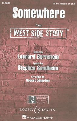 Bernstein Somewhere from West Side Story SATB