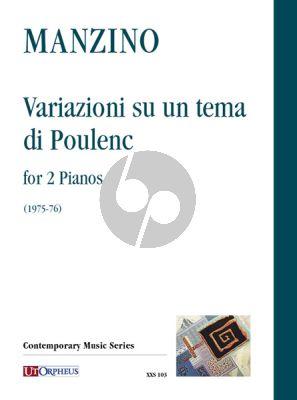 Manzino Variazioni su un tema di Poulenc 2 Pianos