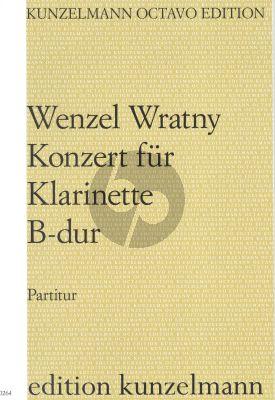 Wratny Concerto B-flat major Clarinet-Orch. Score