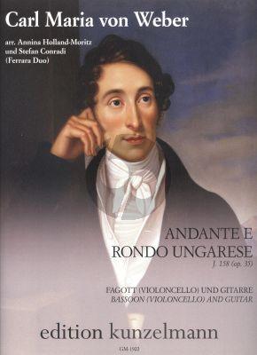 Weber Andante e Rondo Ungarese J.158 Op.35 Fagott[Vc.]-Gitarre