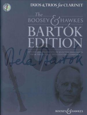 Bartok Duos & Trios for Clarinet (Bk-Cd) (edited by Hywel Davies)