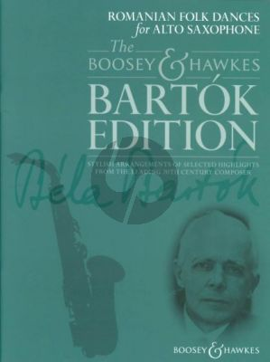 Bartok Romanian Folk Dances for Alto Saxophone (with Piano) (Hywel Davies)