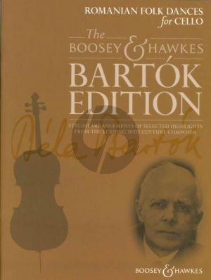 Bartok Romanian Folk Dances for Cello (with Piano) (arr.  Hywel Davies)