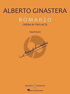 Ginastera Bomarzo (Opera in 2 Acts) Vocal Score