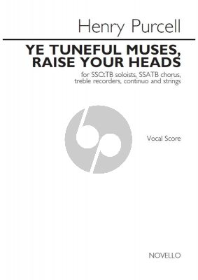 Purcell Ye Tuneful Muses, Raise Your Heads Soli-Choir-Instr) Vocal Score
