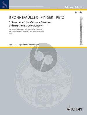 3 Deutsche Barock Sonaten (Bronnemuller-Finger- Petz) (Hugo Ruf)