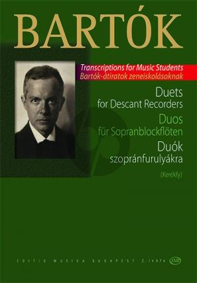 Bartok Duets for Descant Recorders (arr. Márton Kerékfy)
