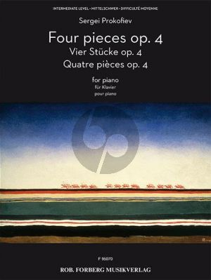 Prokofieff 4 Pieces Op.4 Piano