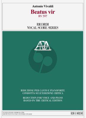 Vivaldi Beatus vir RV 597 (Psalm 111) Soli-Choir-Orch. Vocal Score (Talbot)