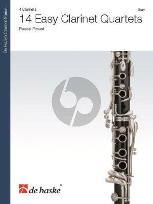 Proust 14 Easy Clarinet Quartets (Score/Parts)