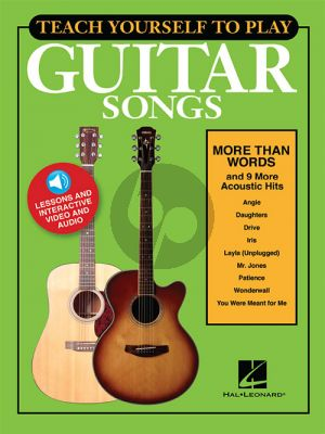 """Teach Yourself to Play Guitar Songs: """"More Than Words and 9 More Acoustic Hits"""