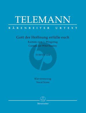 Telemann Gott der Hoffnung erfülle euch TVWV 1:634 Mixed Choir-String Orch. Vocal Score