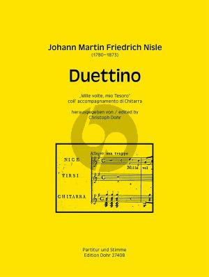 """Nisle Duettino """"Mille volte, mio Tesoro"""" 2 Singstimmen mit Gitarre"""