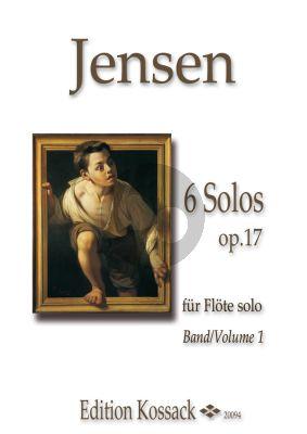Jensen 6 Solos Op.17 Vol.1 (No.1-3) Flöte solo