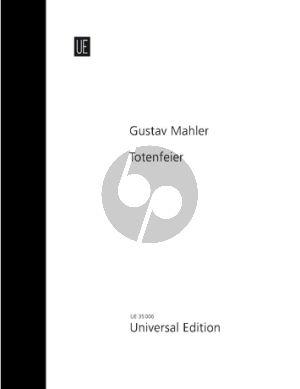 Mahler Totenfeier für Orchester - c-Moll Symphonische Dichtung Dirigierpartitur