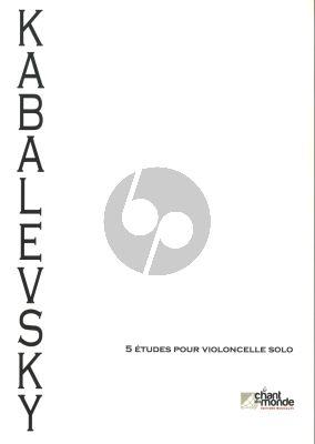 Kabalevsky 5 Studies Op.68 Violoncello solo
