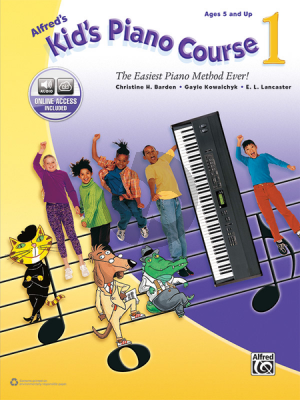 Barden-Kowalchyk Alfred's Kid's Piano Course, Book 1 Book with Audio